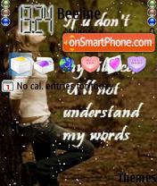 Words theme screenshot