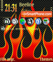 Flame 01 theme screenshot