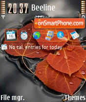 Leaves mix 3.0 es el tema de pantalla