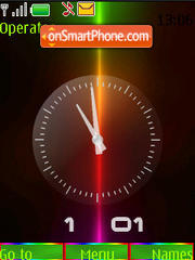 Color clock swf theme screenshot