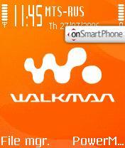 Walkman Brand theme screenshot