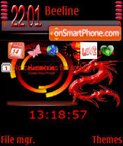 Animated Red Nokia theme screenshot