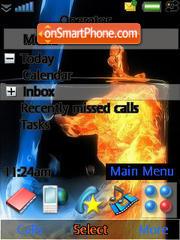 Ice and Fire theme screenshot