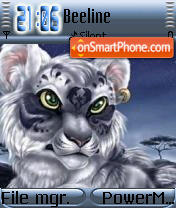 White Tiger 03 theme screenshot
