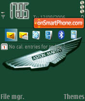 Aston Martin Logo theme screenshot