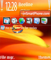 Abstrakt Red tema screenshot
