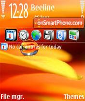 Capture d'écran Abstrakt Red thème