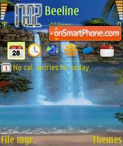 Animted Waterfall es el tema de pantalla