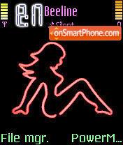 Neon Girl es el tema de pantalla