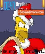 Скриншот темы Simpson Holiday