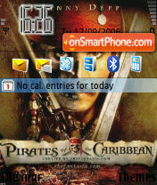 Pirates of the Caribbean theme screenshot