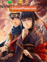 Naruto and Hinata theme screenshot