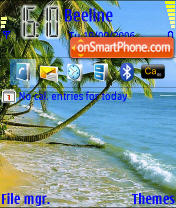Beach tema screenshot