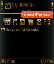 Goldenblack theme screenshot