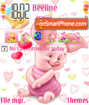 Baby Piglet theme screenshot