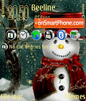 Snowman 04 theme screenshot