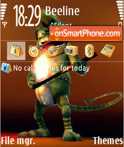 Crazy Frog 03 theme screenshot