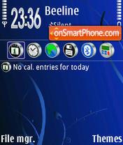 Capture d'écran Abstrakt Blue 01 thème