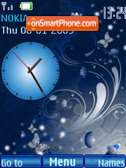 SWF clock Abstract theme screenshot
