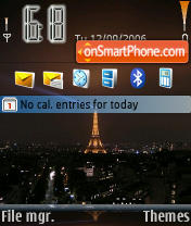 Eiffel Tower Paris theme screenshot