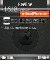Black mac s60v3 theme screenshot