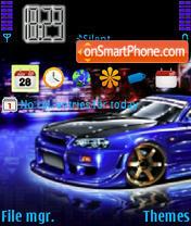 Blue Skyline theme screenshot