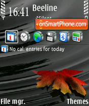 Leaf tema screenshot