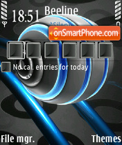 Atomic Ball tema screenshot