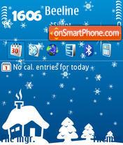 Winter Night 01 theme screenshot