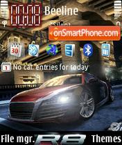 Nfs Carbon Audi 8 es el tema de pantalla