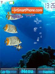 Скриншот темы SWF mobile ocean