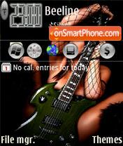 The girl with a guitar es el tema de pantalla