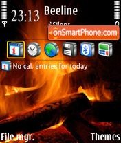TheFireStillBurns theme screenshot