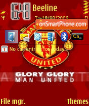 Manchester United theme screenshot