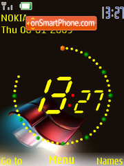 SWF Windows Clock Theme-Screenshot