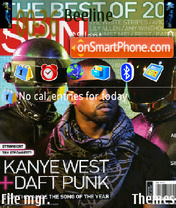 Daft Punk theme screenshot