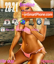 Sexy Blonde theme screenshot