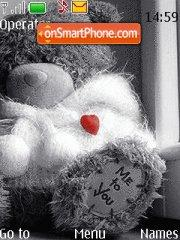 Teddy and Heart theme screenshot
