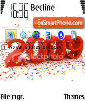 Happy New Year 2009 01 theme screenshot