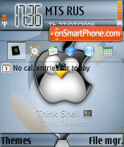 Linux Tux theme screenshot