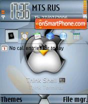 Linux Tux es el tema de pantalla