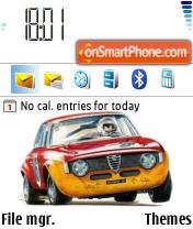 Alfa Romeo Gta es el tema de pantalla