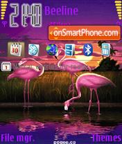 Animated Pink Pelica theme screenshot