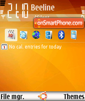 Ubuntu v1.0a theme screenshot