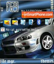 Nissan Gtr Skyline es el tema de pantalla
