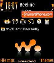 Скриншот темы Walkman Orange 03
