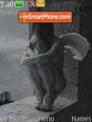 Rainy Girl theme screenshot