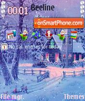 Скриншот темы Merry Xmas