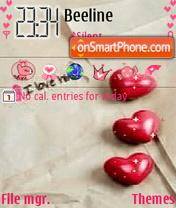 Hearts theme screenshot