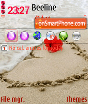 Heart at Sand theme screenshot